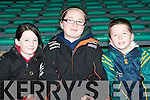 Having a great time watching the Castlegregory team at the Gaelic Grounds in Limerick on Sunday l-r: Shauna Quirke, Chanel Cleary and Cormac Cronin.
