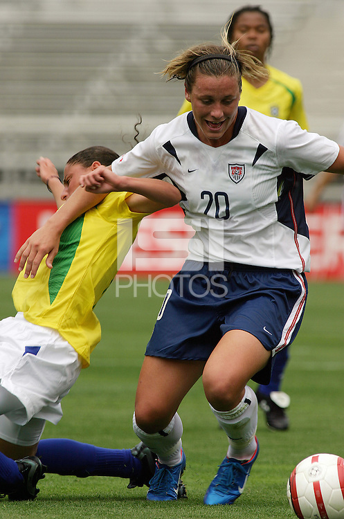 Abby Wambach v Brazil.US Women's National Team vs Brazil at Legion Field in Birmingham, Alabama.