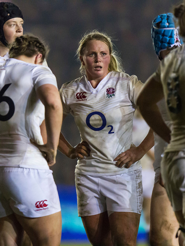 Izzy Noel-Smith, England Women v Wales Women in a 6 Nations match at Twickenham Stoop, Twickenham, England, on 12th March 2016