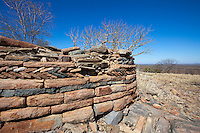 The beautiful stone walls of the Majande Ruins on top of Majande Hill.
