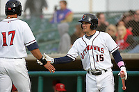 May 9, 2010: Brandon Barnes of the Lancaster JetHawks during game against the Inland Empire 66'ers at Clear Channel Stadium in Lancaster,CA.  Photo by Larry Goren/Four Seam Images