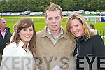 HORSE FANS: Brid Leary, Christopher Buckley and Siobhán Leary having fun at Killarney Races on Sunday.