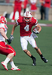 Wisconsin Badgers wide receiver Jared Abbrederis (4) carries the ball during an NCAA college football game against the Austin Peay Governors on September 25, 2010 at Camp Randall Stadium in Madison, Wisconsin. The Badgers beat the Governors 70-3. (Photo by David Stluka)