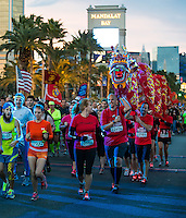 LAS VEGAS, NV - December 2 :  Race atmosphere pictured at Rock and Roll Marathon & 1/2 on The Las Vegas Strip at Night on December 2, 2012 in Las Vegas, Nevada. © Kabik/ Starlitepics /MediaPunch Inc. ©/NortePhoto /NortePhoto©