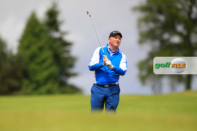 Michael Barrett (Slievenamon) on the 10th fairway during Round 3 of the Irish Mid-Amateur Open Championship at New Forest on Sunday 21st June 2015.<br /> Picture:  Thos Caffrey / www.golffile.ie