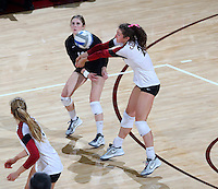 Stanford, CA; Wednesday October 30, 2013: Women's Volleyball, Stanford vs USC.