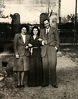 BNPS.co.uk (01202 558833)Pic:  EzraFamily/BNPS<br /> <br /> Gabriella with her mother and father after the war.<br /> <br /> Brighton nonagenarian Gabriella Ezra(91) has finally been recognised for her wartime heroics...<br /> <br /> The extraordinary story of how a teenage girl saved an entire village from being executed by the Nazis has come to light after she finally received a gallantry award nearly 74 years later.<br /> <br /> Fearless Gabriella Ezra, 91, who lives in Brighton, Sussex, intervened to stop her father Luigi and 37 other inhabitants of a rural village in her native Italy from being massacred by a firing squad during the chaotic last days of WW2.<br /> <br /> She has now been awarded an Italian Star of Italy medal after her son Mark wrote to the Italian embassy to make them aware of her remarkable actions on the morning April 28, 1945.<br /> <br /> Gabriella, who was 17 years old at the time, chased after a German officer and pleaded with him to show mercy to the villagers of Capella di Scorze, near Venice, who had been rounded up and locked in a cowshed.<br /> <br /> The Germans were after retribution following an attack on their men by Italian partisans which had left several of them wounded.