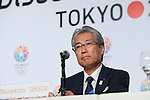 Tsunekazu Takeda, <br /> SEPTEMBER 7, 2013 : <br /> Japan Olympic Committee President Tsunekazu Takeda speaks during a press conference after Tokyo was announced as the winning city bid for the 2020 Summer Olympic Games at the 125th International Olympic Committee (IOC) session in Buenos Aires Argentina, on Saturday September 7, 2013. (Photo by YUTAKA/AFLO SPORT) [1040]