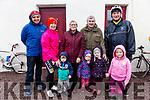 Waiting for the start of the John O'Shea Memorial Cycle in Dromid on Sunday were front l-r; Liam O'Sullivan, Aine Cronin, Maura Cronin, Lynn O'Sullivan, back l-r; Patrick Sugrue, Marie Cronin, Sheila & Donal O'Sullivan with Mike O'Shea.