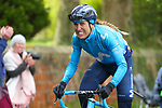 Mavi Victo Garcia (ESP) MovistarTeam Women launches a lone attack during Stage 2 of the 2019 ASDA Tour de Yorkshire Women's Race, running 132km from Bridlington to Scarborough, Yorkshire, England. 4th May 2019.<br /> Picture: ASO/SWPix | Cyclefile<br /> <br /> All photos usage must carry mandatory copyright credit (© Cyclefile | ASO/SWPix)