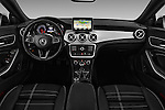 Stock photo of straight dashboard view of 2016 Mercedes Benz CLA - 4 Door Sedan Dashboard