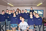 Jack O'Connor with his 5th Year English class