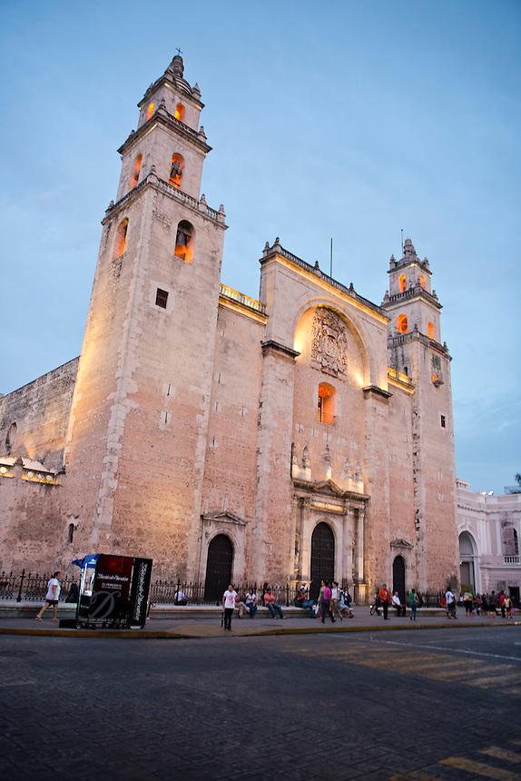 Cathedral. Merida, Yucatan, Mexico