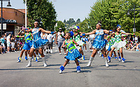 Washington Diamonds Drill Team, Renton River Days Parade, Renton, WA, USA.