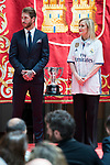 Real Madrid's Sergio Ramos and President of the community Cristina Cifuentes at Seat of Government in Madrid, May 22, 2017. Spain.<br /> (ALTERPHOTOS/BorjaB.Hojas)