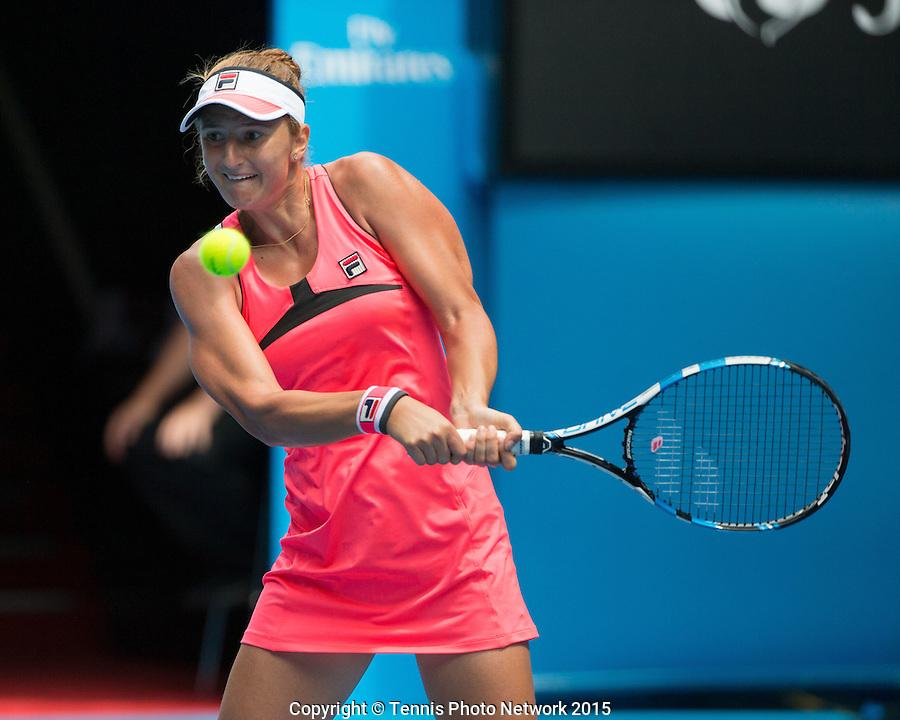 Irina-Camelia Begu (ROU)<br /> <br /> Tennis - Australian Open 2015 - Grand Slam ATP / WTA -  Melbourne Olympic Park - Melbourne - Victoria - Australia  - 25 January 2015.