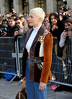 Octber 3 2017, PARIS FRANCE the Louis Vuitton Show at the Paris Fashion Week<br /> Spring Summer 2017/2018. Actress Michelle Williams arrives at the show.