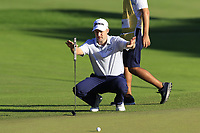 Russell Knox (SCO) at the 18th green during Thursday's Round 1 of the 2018 Turkish Airlines Open hosted by Regnum Carya Golf &amp; Spa Resort, Antalya, Turkey. 1st November 2018.<br /> Picture: Eoin Clarke | Golffile<br /> <br /> <br /> All photos usage must carry mandatory copyright credit (&copy; Golffile | Eoin Clarke)