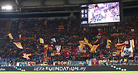 Football Soccer: UEFA Champions League  AS Roma vs PFC CSKA Mosca Stadio Olimpico Rome, Italy, October 23, 2018. <br /> Roma's fans prior to the Uefa Champions League football soccer match between AS Roma and PFC CSKA Mosca at Rome's Olympic stadium, October 23, 2018.<br /> UPDATE IMAGES PRESS/Isabella Bonotto