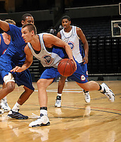 Kyle Collinsworth handles the ball during the 2009 NBPA Top 100 Basketball Camp held Friday June 17- 20, 2009 in Charlottesville, VA. Photo/ Andrew Shurtleff