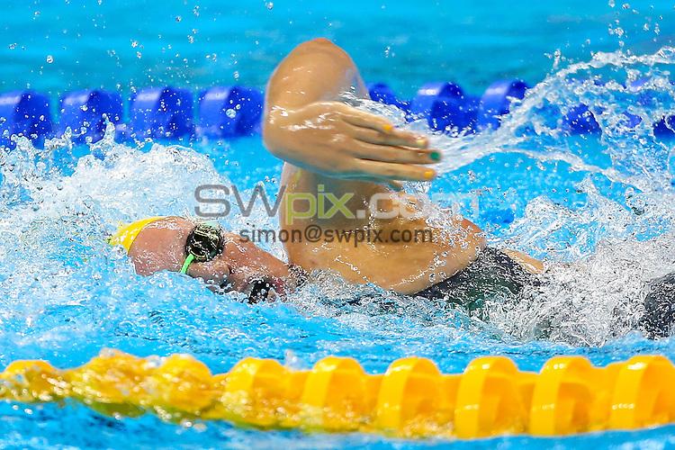 Picture by Alex Whitehead/SWpix.com - 13/09/2016 - 2016 Rio Paralympic Games - Swimming - Olympic Aquatics Stadium, Rio de Janeiro, Brazil - Australia's Monique Murphy competes in the Women's 100m Freestyle - S10 Heat 3