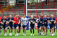 PICTURE BY ALEX WHITEHEAD/SWPIX.COM - Rugby League - England Training - Belle Vue Stadium, Wakefield, England - 02/07/12 -  England players.