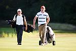 DEN DOLDER - De play-off bij de heren ging tussen Darius van Driel (l) en Tim Sluiter, NK Strokeplay golf op Golfsocieteit  De Lage Vuursche. Van Driel won de titel. COPYRIGHT KOEN SUYK