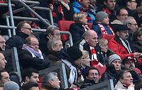 FUSSBALL   1. BUNDESLIGA  SAISON 2012/2013   12. Spieltag 1. FC Nuernberg - FC Bayern Muenchen      17.11.2012 Auf der Tribuene, Vorstandsvorsitzender Karl Heinz Rummenigge und Praesident Uli Hoeness (v. li., FC Bayern Muenchen)