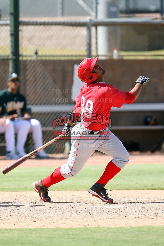 Luis Jimenez - Los Angeles Angels - 2010 Instructional League.Photo by:  Bill Mitchell/Four Seam Images..