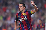18.10.2014 Barcelona, Spain.La Liga day 8. Picture show Xavi in action during game between FC Barcelona against Eibar at Camp Nou