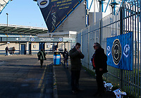Fans in support of the Football Lads Alliance movement collect outside the ground during the Sky Bet Championship match between Millwall and Sheff United at The Den, London, England on 2 December 2017. Photo by Carlton Myrie / PRiME Media Images.