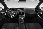 Stock photo of straight dashboard view of a 2018 Volvo V40 R-Design 5 Door Hatchback