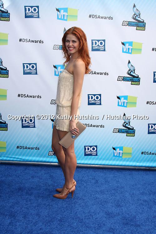 vLos Angeles - AUG 19:  Anna Trebunskaya arrives at the 2012 Do Something Awards at Barker Hanger on August 19, 2012 in Santa Monica, CA