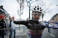 Jolien Verschueren (BEL/Decock Woningbouw) post-race<br /> <br /> Azencross Loenhout 2014