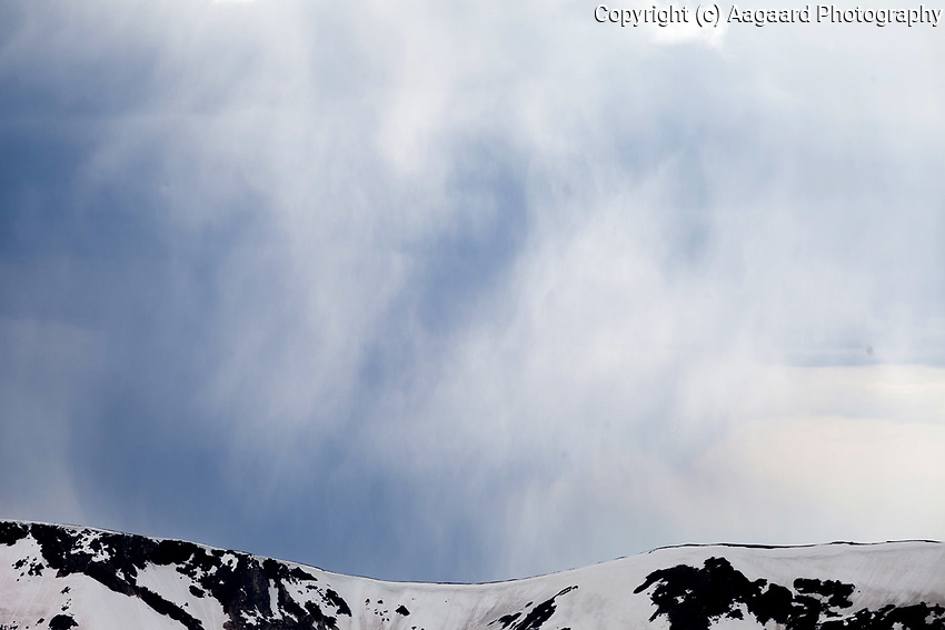 Rain and ridgeline, Trail Ridge Road, Rocky Mountain National Park