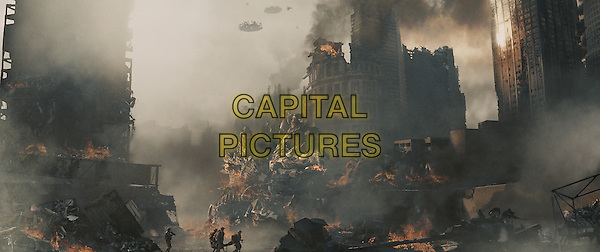 SCENE - A Marine platoon faces off against an alien invasion .in Battle: Los Angeles.*Filmstill - Editorial Use Only*.CAP/PLF.Supplied by Capital Pictures.