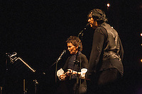 "Laurie Anderson perofrming with Antony Hagerty. Anderson participated in a series of Leonard Cohen tribute concerts, called ""Came So Far for Beauty"", produced and arranged by Hal Willner, performing along with Nick Cave, The McGarrigles, Martha Wainwright, Rufus Wainwright, Jarvis Cocker, Beth Orton, Laurie Anderson, Linda Thompson, Antony Hegarty, and Cohen's original backing singers Perla Batalla and Julie Christensen. The concerts were performed in New York, Brighton, Dublin and Sydney. The Sydney concert was filmed and became Leonard Cohen: I'm Your Man, a film tribute to the legendary songwriter. A CD soundtrack featuring select covers from the tribute concerts was released by Verve Records in 2006;"