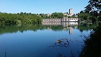 Lombardia, Trezzo sull&rsquo;Adda, centrale idroelettrica Taccani sul fiume Adda.<br /> Lombardy, Trezzo sull'Adda, Taccani hydroelectric power station on the river Adda.