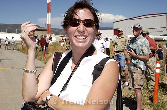 Laura Seitz. World War Two era (a B-17 Flying Fortress and a B-24 Liberator) landed at the Heber Airport Tuesday afternoon, drawing hundreds of spectators. 07.09.2002, 4:04:57 PM<br />