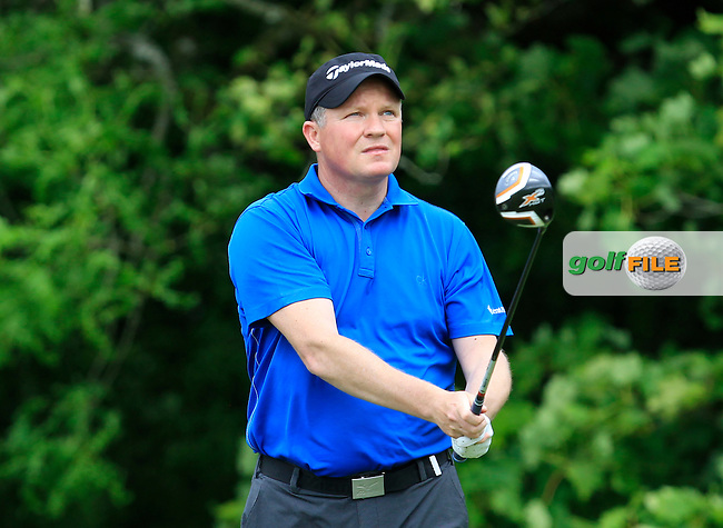 Michael Barrett (Slievenamon) on the 14th tee during Round 2 of the Irish Mid-Amateur Open Championship at New Forest on Saturday 20th June 2015.<br /> Picture:  Thos Caffrey / www.golffile.ie