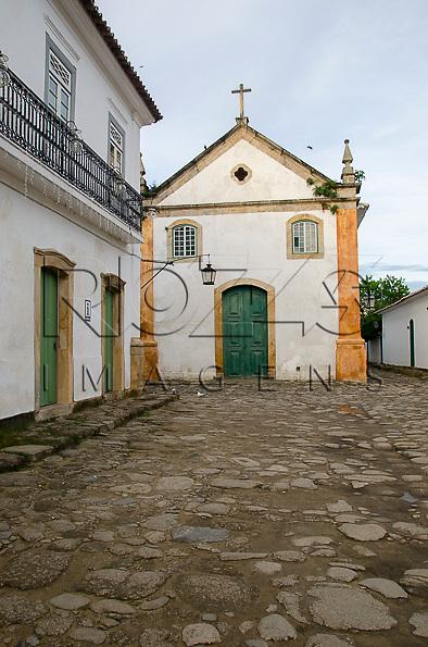 Igreja Nossa Senhora do Rosário e São Benedito no centro histórico, Paraty- RJ, 01/2014.