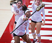 STANFORD, CA - November 4, 2018: Courtney Bowen at Maples Pavilion. No. 2 Stanford Cardinal defeated the Utah Utes 3-0.