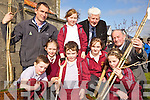 PUTTING DOWN ROOTS: Planting trees at Duagh national school on Friday as part of National Tree Week, front l-r: JD Cotter, Caoimhe Harte, TJ Cosgrove, Eilish Cotter, Emma Cotter. Back l-r: Conor Daly (The Forestry Company, Rebecca McCarthy, Micheal O'Brien (Tree Council of Ireland), Terence O'Connor (Tree Council of Ireland).