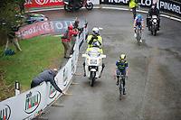 Nairo Quintana (COL/Movistar) in the final km from the finish atop the Val Martello (139km)<br /> <br /> 2014 Giro d'Italia <br /> stage 16: Ponte di Legno - Val Martello (139km)