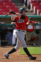 April 18, 2010: Allan Dykstra of the Lake Elsinore Storm during game against the High Desert Mavericks at Mavericks Stadium in Adelanto,CA.  Photo by Larry Goren/Four Seam Images