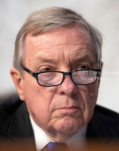 United States Senator Dick Durbin (Democrat of Illinois) listens to the controversy prior to Judge Brett Kavanaugh giving testimony before the United States Senate Judiciary Committee on his nomination as Associate Justice of the US Supreme Court to replace the retiring Justice Anthony Kennedy on Capitol Hill in Washington, DC on Tuesday, September 4, 2018.<br /> Credit: Ron Sachs / CNP<br /> (RESTRICTION: NO New York or New Jersey Newspapers or newspapers within a 75 mile radius of New York City)