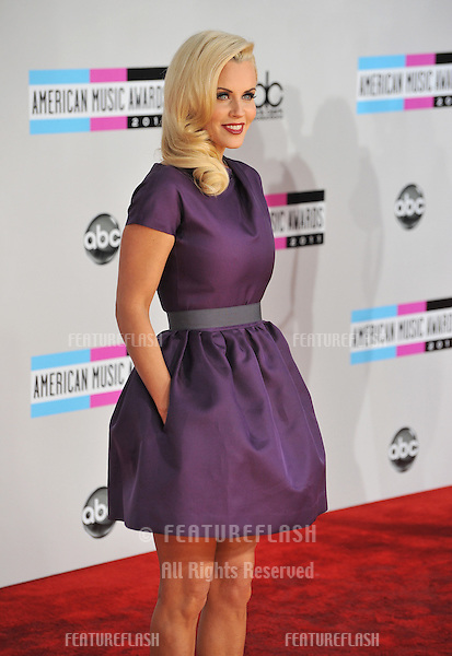 Jenny McCarthy arriving at the 2011 American Music Awards at the Nokia Theatre, L.A. Live in downtown Los Angeles..November 20, 2011  Los Angeles, CA.Picture: Paul Smith / Featureflash