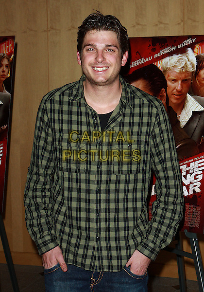 TALAN TORRIERO.Los Angeles Premiere of The Killing Jar  held at the Clarity Theatre, Beverly Hills, California, USA..March 17th, 2010.half length green black plaid checked check shirt smiling hands in pockets .CAP/ADM/TC.©T. Conrad/AdMedia/Capital Pictures.