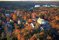 Harvard, MA aerial view autumn