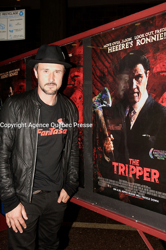 Montreal (Qc) CANADA, July 11, 2007 -<br /> <br /> American Actor David Arquette present the horror movie TRIPPER, which he directed, at fantasia Film Festival in Montreal, July 11, 20007.<br /> <br /> photo : Pierre Roussel (c)  Images Distribution